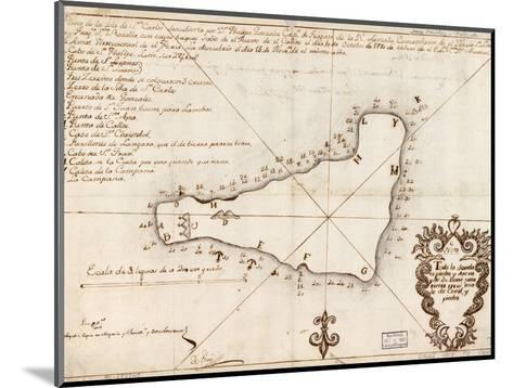 1803 Map of Easter Island--Mounted Photo