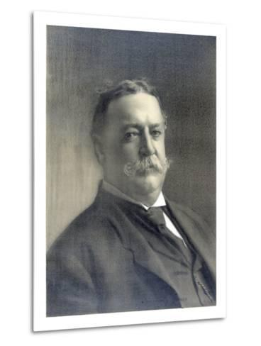 1910 Head and Shoulders Portrait of Republican President William Howard Taft--Metal Print