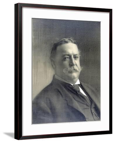 1910 Head and Shoulders Portrait of Republican President William Howard Taft--Framed Art Print