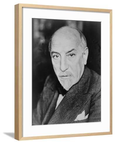 Luigi Pirandello Italian Playwright and Novelist, Won the 1934 Nobel Prize for Literature. 1934--Framed Art Print