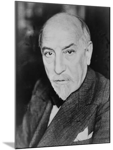 Luigi Pirandello Italian Playwright and Novelist, Won the 1934 Nobel Prize for Literature. 1934--Mounted Photo