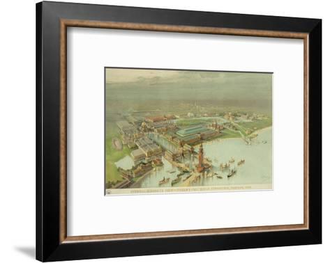 Birdseye View. World's Columbian Exposition, Chicago, 1893--Framed Art Print