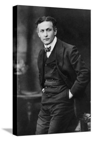 Harry Houdini, American Magician Famous for His Escape Acts. 1913 Portrait by Gray Campbell--Stretched Canvas Print