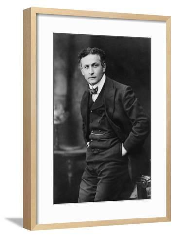 Harry Houdini, American Magician Famous for His Escape Acts. 1913 Portrait by Gray Campbell--Framed Art Print