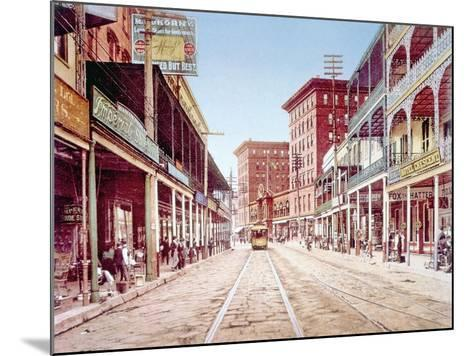 St. Charles Street in New Orleans, 1900--Mounted Photo
