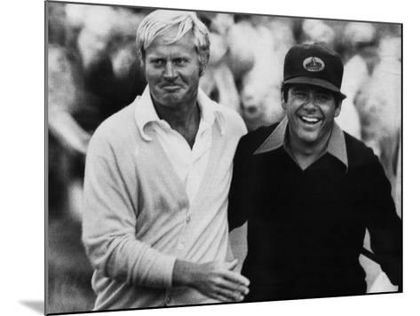 Jack Nicklaus, Lee Trevino, at U.S. Open Championship in Pebble Beach, California, June 18, 1972--Mounted Photo