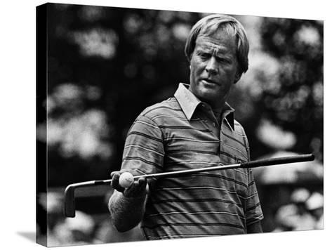 Golf Pro Jack Nicklaus, August, 1984--Stretched Canvas Print
