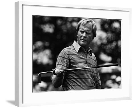 Golf Pro Jack Nicklaus, August, 1984--Framed Art Print