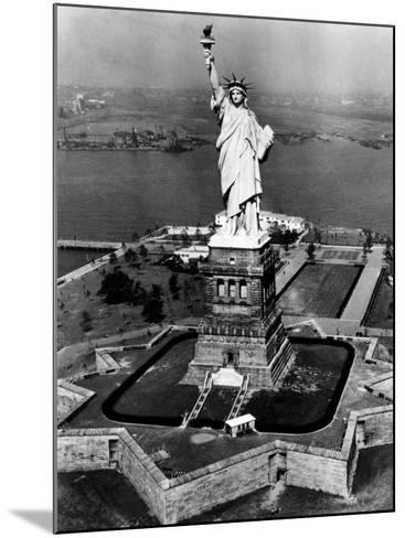 The Statue of Liberty, New York City, 1955--Mounted Photo