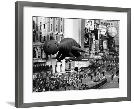 The Macy's Thanksgiving Day Parade, Times Square, New York City, November 28, 1963--Framed Art Print