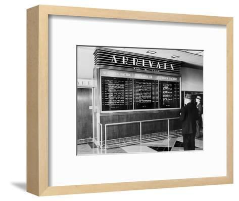 Los Angeles, Arrival Board at Union Station, Los Angeles, California, May 19, 1939--Framed Art Print