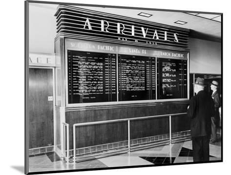 Los Angeles, Arrival Board at Union Station, Los Angeles, California, May 19, 1939--Mounted Photo