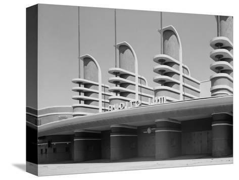 Pan Pacific Auditorium Achieves the Styling of the Streamlined World's Fairs of 1930s, Los Angeles--Stretched Canvas Print