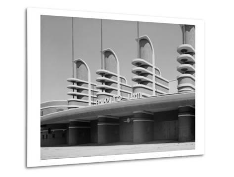 Pan Pacific Auditorium Achieves the Styling of the Streamlined World's Fairs of 1930s, Los Angeles--Metal Print