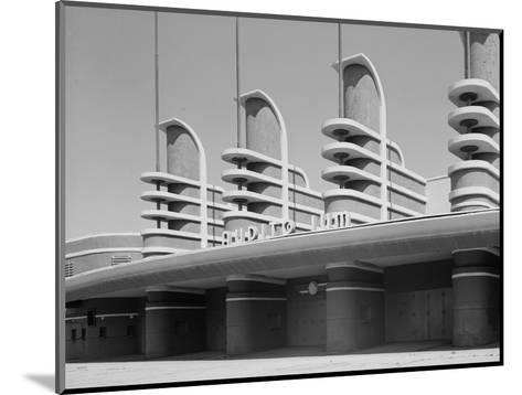 Pan Pacific Auditorium Achieves the Styling of the Streamlined World's Fairs of 1930s, Los Angeles--Mounted Photo