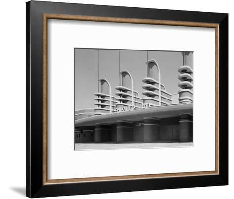 Pan Pacific Auditorium Achieves the Styling of the Streamlined World's Fairs of 1930s, Los Angeles--Framed Art Print