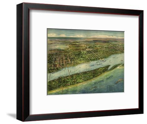 1915 Aerial View of West Palm Beach, North Palm Beach and Lake Worth, Florida--Framed Art Print