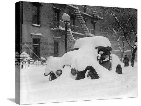 1920's Model Car Is Covered with Snow after a January 1922 Blizzard in Washington, D.C--Stretched Canvas Print
