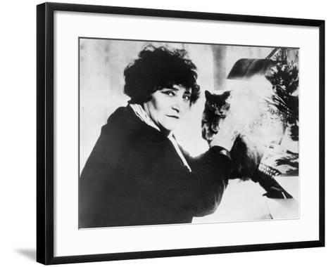 Colette as the Most Honored Female French Writer of the First Half of 20th Century--Framed Art Print