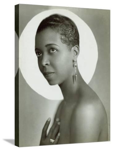Ethel Waters in a 1935 Publicity Photo for Lew Leslie's 'Rhapsody in Black--Stretched Canvas Print
