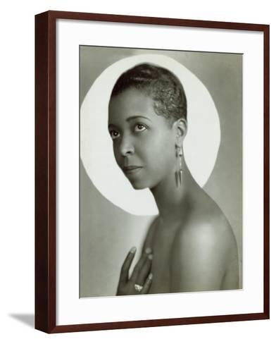 Ethel Waters in a 1935 Publicity Photo for Lew Leslie's 'Rhapsody in Black--Framed Art Print