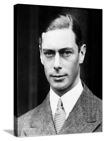 King George VI of England, 1936--Stretched Canvas Print