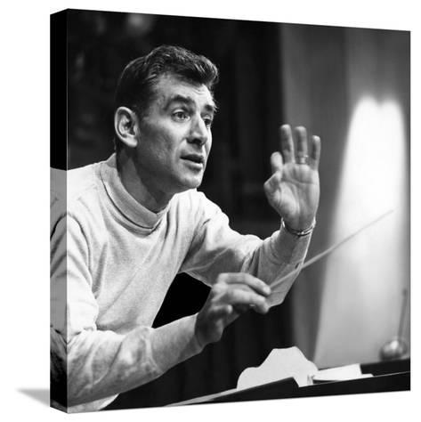 Leonard Bernstein, 1960--Stretched Canvas Print