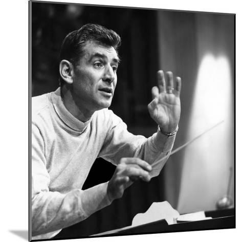 Leonard Bernstein, 1960--Mounted Photo
