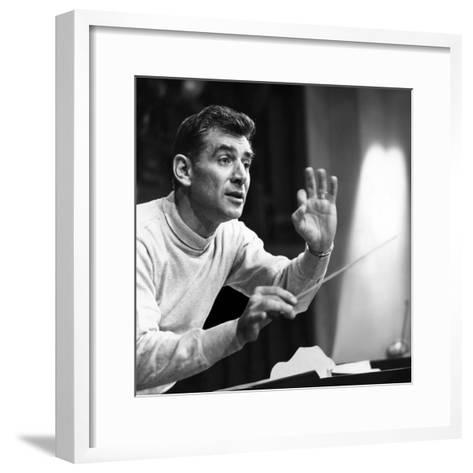 Leonard Bernstein, 1960--Framed Art Print