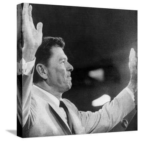 California Governor Ronald Reagan, Republican National Convention, Miami, Florida, August 1968--Stretched Canvas Print