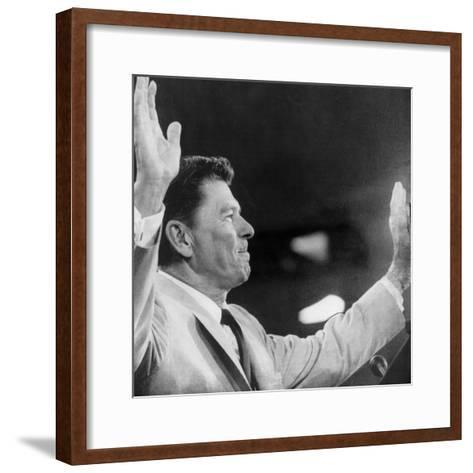 California Governor Ronald Reagan, Republican National Convention, Miami, Florida, August 1968--Framed Art Print