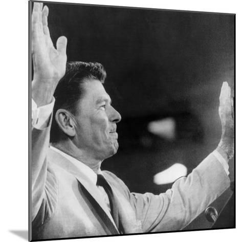 California Governor Ronald Reagan, Republican National Convention, Miami, Florida, August 1968--Mounted Photo