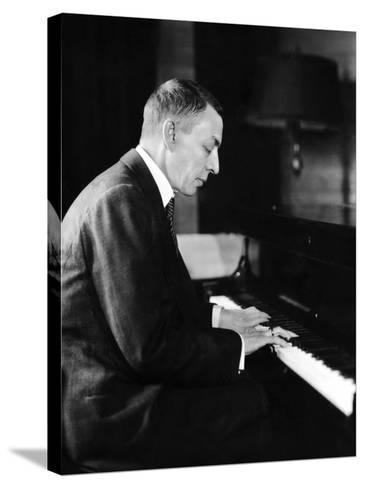 Russian Composer and Pianist Sergei Rachmaninoff, 1931--Stretched Canvas Print