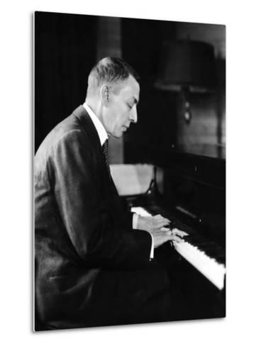 Russian Composer and Pianist Sergei Rachmaninoff, 1931--Metal Print