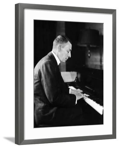 Russian Composer and Pianist Sergei Rachmaninoff, 1931--Framed Art Print