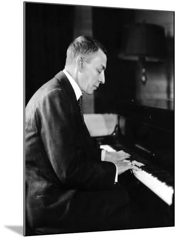 Russian Composer and Pianist Sergei Rachmaninoff, 1931--Mounted Photo
