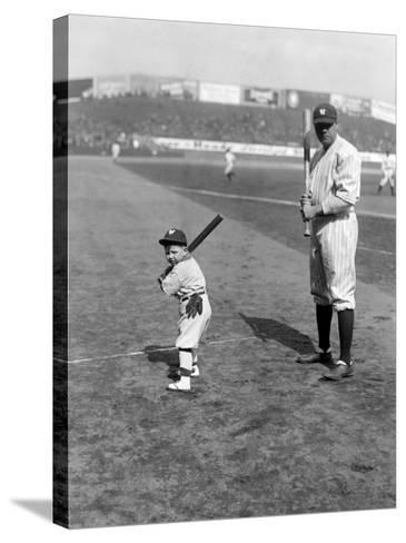 Babe Ruth and Mascot, 1922--Stretched Canvas Print