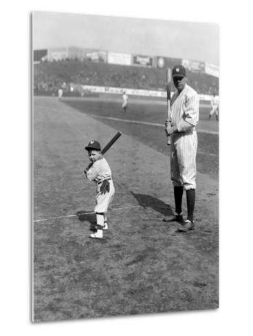Babe Ruth and Mascot, 1922--Metal Print