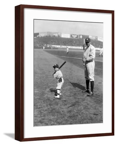 Babe Ruth and Mascot, 1922--Framed Art Print
