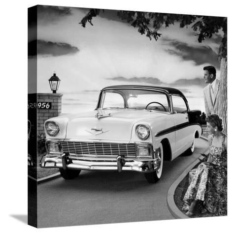 1956 Chevrolet Bel Air Sport Coupe--Stretched Canvas Print