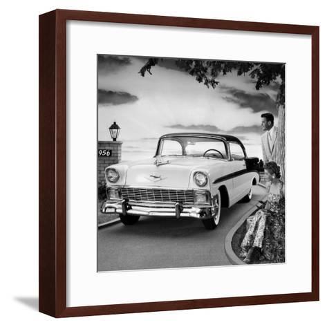 1956 Chevrolet Bel Air Sport Coupe--Framed Art Print