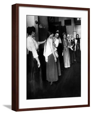Women Immigrants Undegoing a Physical Examination, Ellis Island, New York, 1910--Framed Art Print