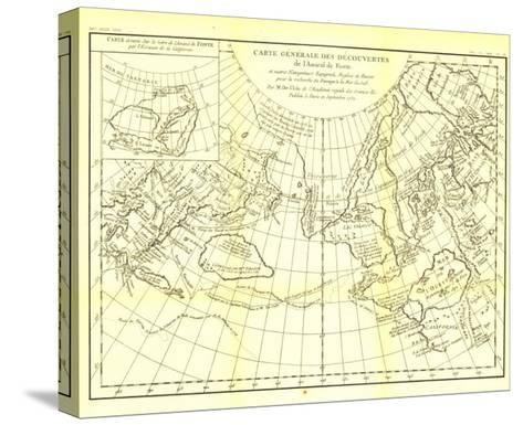 1892 Carte Generale Des Decouvertes De Lamiral De Fonte Map-National Geographic Maps-Stretched Canvas Print