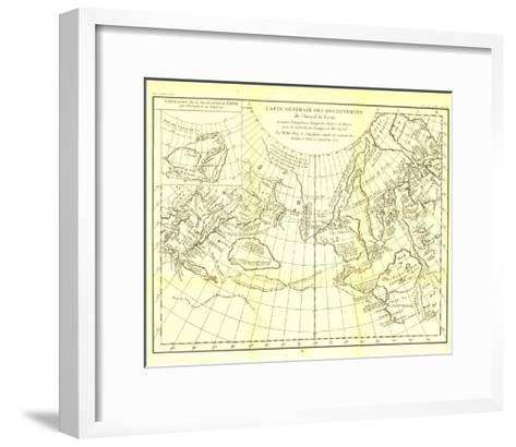 1892 Carte Generale Des Decouvertes De Lamiral De Fonte Map-National Geographic Maps-Framed Art Print
