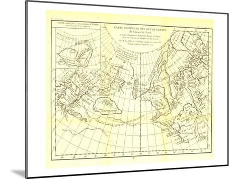 1892 Carte Generale Des Decouvertes De Lamiral De Fonte Map-National Geographic Maps-Mounted Art Print