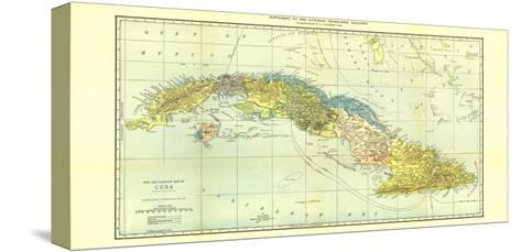 1906 Cuba Map-National Geographic Maps-Stretched Canvas Print