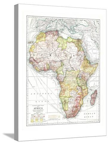 1909 Africa Map-National Geographic Maps-Stretched Canvas Print