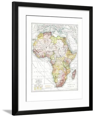 1909 Africa Map-National Geographic Maps-Framed Art Print