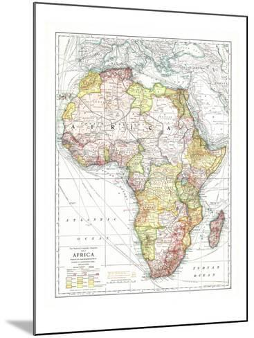 1909 Africa Map-National Geographic Maps-Mounted Art Print