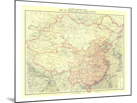 1912 China and Its Territories Map-National Geographic Maps-Mounted Art Print